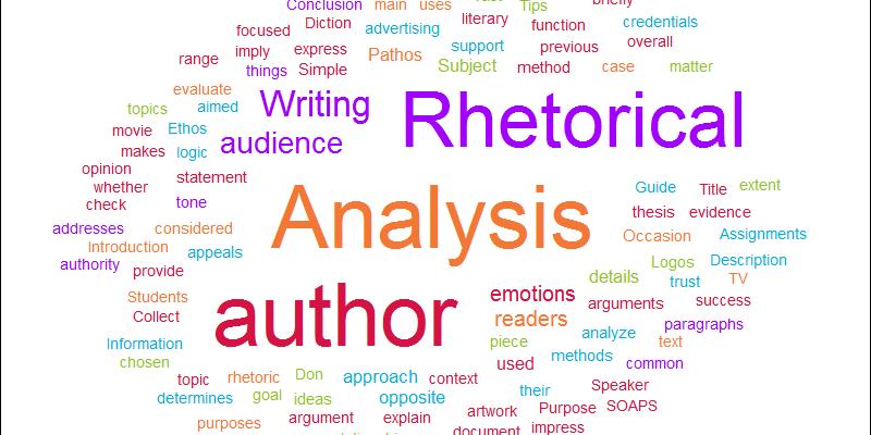 Writing a Rhetorical Analysis photo
